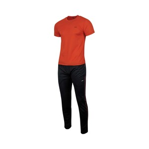 Black Panther Men's Active Wear 2Pcs Set Short Sleeve 70001D Orange