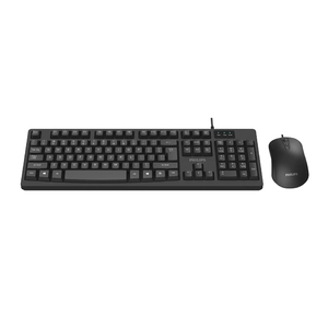 Philips USB 2.0 Wired Keyboard and Mouse Combo, Black