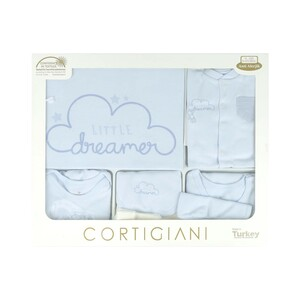 Cortigiani Infant Gift Set 10Pcs Blue 0-3M