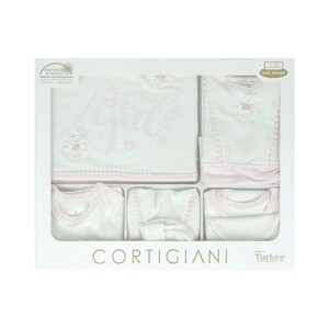 Cortigiani Infant Gift Set 10Pcs Pink 0-3M