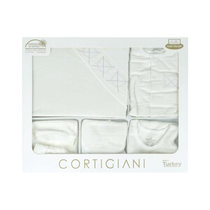 Cortigiani Infant Gift Set 10Pcs White 0-3M