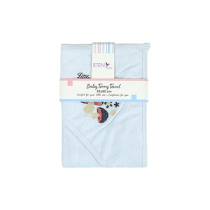 Eten Baby Terry Towel With Hood Blue 88x80cm