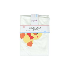 Eten Baby Terry Towel With Hood White 88x80cm