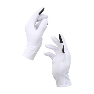 Men's Fabric Gloves Anti Bacterial and Water Resistant White