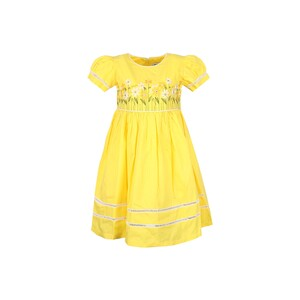 Debackers Girls Cotton Frock GJMY-35 Yellow 2-8Y