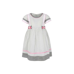 Debackers Girls Cotton Frock GJMY-23 White 2-8Y