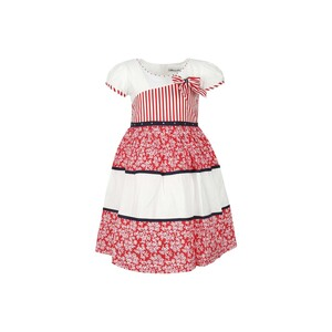 Debackers Girls Cotton Frock GJMY-15 Red 2-8Y