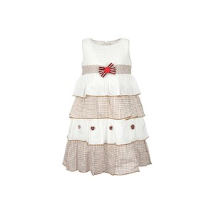 Debacker Girls Cotton Frock GJMY 27 Brown 2-8Y