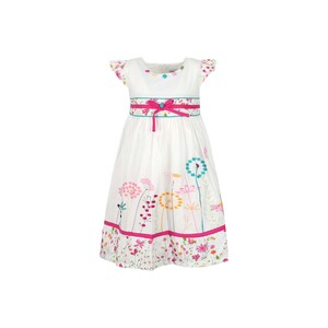 Debackers Girls Cotton Frock GJMY-28 White 2-8Y