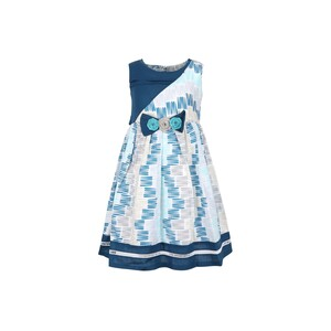 Debackers Girls Cotton Frock GJMY 17 Blue 2-8Y