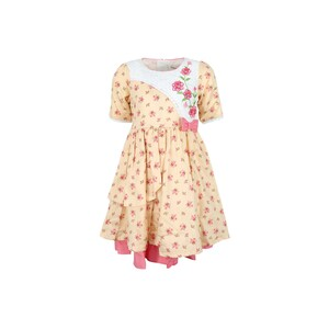 Debackers Girls Cotton Frock GJJLZ81 Brown 2-8Y