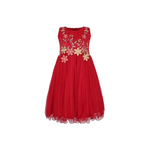 Cortigiani Girls Party Frock GJF-I93 Red 2-8Y