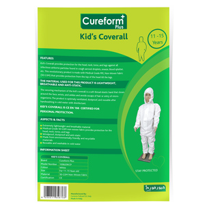 Cureform Plus Kid's Overall 11-15 Years 1pc