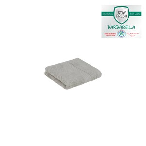 Barbarella Anti-Microbial Face Towel 33x33cm Grey
