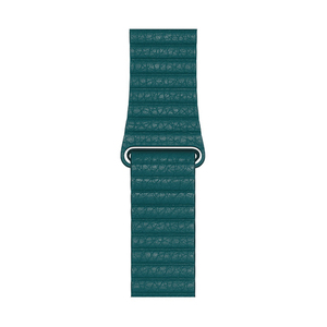 Apple 44 mm MXPN2 Peacock Leather Loop - Large
