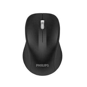 Philips 2.4GHz Wireless Mouse with 3 Buttons and Optical Sensor, Black