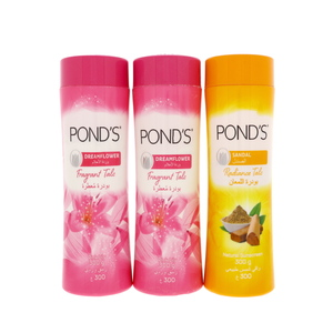 Ponds Fragrant Talc Assorted 300g 2 + 1