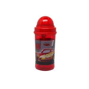 Cars Water Bottle with Straw 19-0802