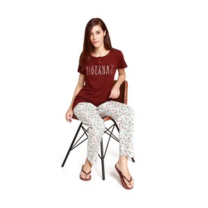 Debackers Women's Pyjama Set Short Sleeve 352 Maroon