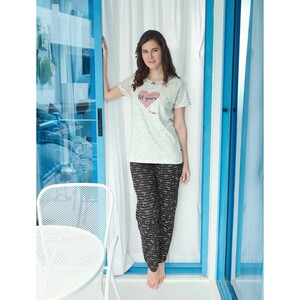 Debackers Women's Pyjama Set Short Sleeve 459 Grey