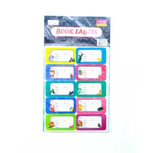 Win Plus Book Labels EX152A 4Sheets Assorted