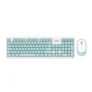 Philips Wireless Keyboard & Mouse Combo, Mint Colour