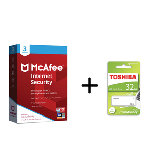 Mcafee Internet Security 3User + Flash Drive 32GB