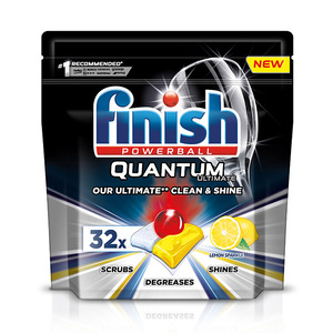 Finish Dishwashing Quantum Powerball Lemon 32pcs 400g