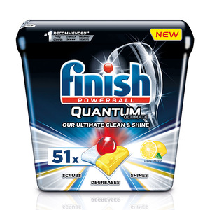Finish Dishwashing Quantum Powerball Lemon 51pcs 637.5g