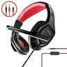Trands Gaming Headset with 3.5mm Connector and Audio Y Splitter Cable HS5458