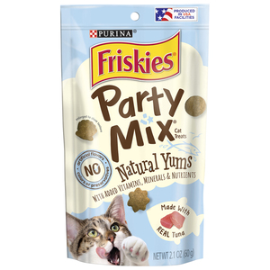 Purina Friskies Natural Cat Treats, Party Mix Natural Yums With Real Tuna 60g