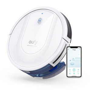 Eufy Vaccum Cleaner Robovac G10-T2150K21W Smart Dynamic Navigation, 2-in-1 Sweep and mop, Wi-Fi, Super-Slim, 2000Pa Strong Suction, Quiet, Self-Charging Robotic Vacuum
