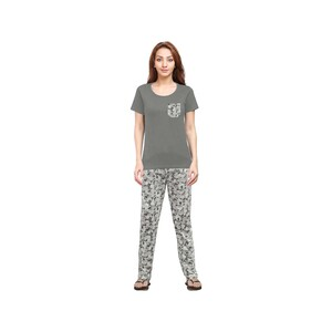 Eten Womens Pyjama Set Short Sleeve VJ2020-4 Grey