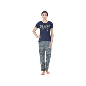 Eten Womens Pyjama Set Short Sleeve VJ2020-6 Navy Blue