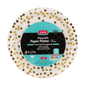 Lulu Disposable Paper Plates Size 7inch 50pcs