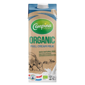 Campina 100% Natural Organic Milk Full Cream 1Litre