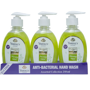 Yardley Anti Bacterial Hand Wash Assorted 250ml 2+1
