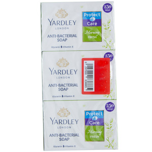 Yardley Anti Bacterial Soap Assorted 100g 2+1