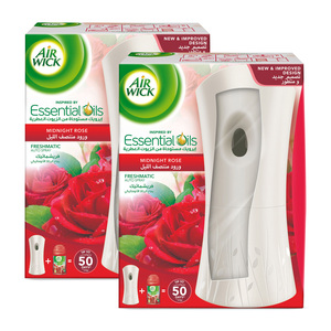 Airwick Freshmatic Auto Spray Kit + Refill Midnight Rose 250ml 1+1