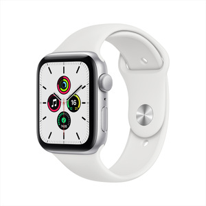 Apple Watch SE GPS MYDM2AE/A 40mm Silver Aluminum Case with Sport Band White
