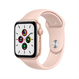 Apple Watch SE GPS MYDN2AE/A 40mm Gold Aluminum Case with Sport Band Pink Sand