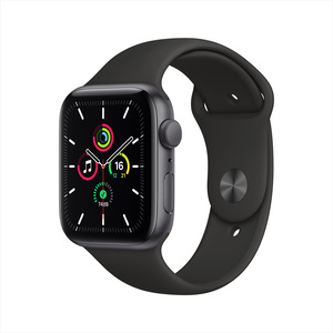 Apple Watch SE GPS MYDT2AE/A 44mm Space Gray Aluminum Case with Sport Band Black