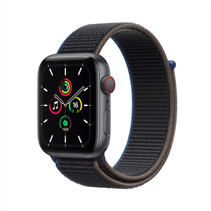 Apple Watch SE GPS + Cellular MYEL2AE/A 40mm Space Gray Aluminum Case with Sport Loop Charcoal