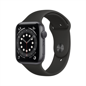Apple Watch Series 6 GPS M00H3AE/A 44mm Space Gray Aluminium Case with Sport Band Black