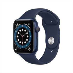 Apple Watch Series 6 GPS M00J3AE/A 44mm Blue Aluminium Case with Sport Band Deep Navy