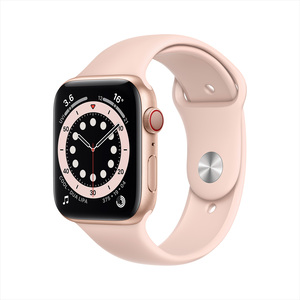 Apple Watch Series 6 GPS + Cellular MG2D3AE/A 44mm Gold Aluminium Case with Sport Band Pink Sand