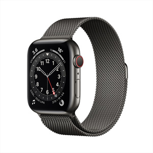 Apple Watch Series 6 GPS + Cellular M06Y3AE/A 40mm Graphite Stainless Steel Case with Milanese Loop Graphite