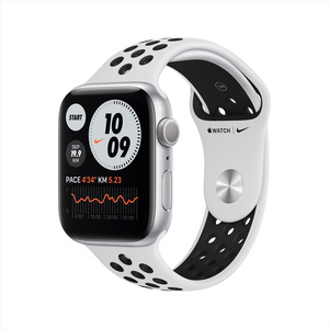 Apple Watch Series 6 Nike GPS MG293AE/A 44mm Silver Aluminum Case with Sport Band Pure Platinum/Black