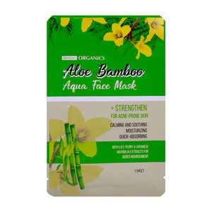 Bench Organics Aqua Face Mask Aloe Bamboo 1pc