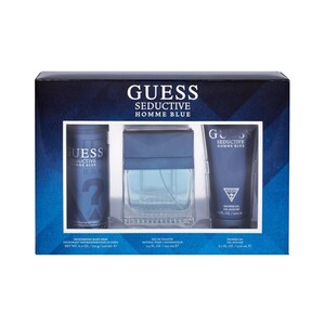 Guess Seductive Homme Blue  EDT for Men 100ml + Shower Gel 200ml + Body Spray 226ml